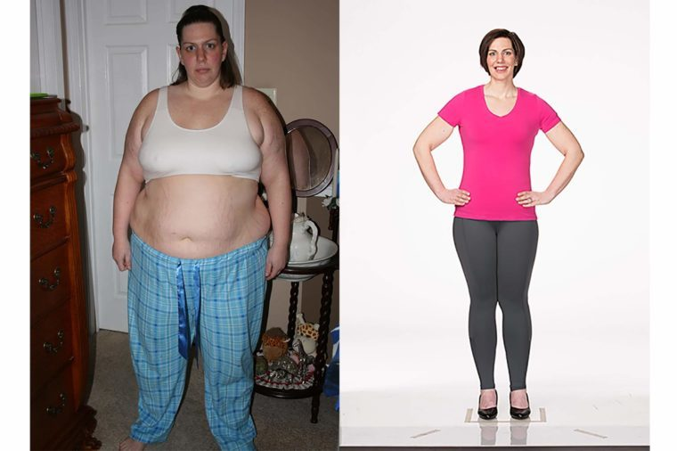 Andrea Barlow, before and after