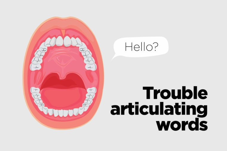 "Illustration of an open mouth with a ""Hello"" cartoon bubble."