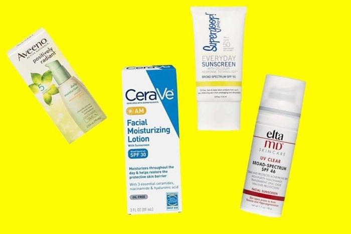 Various Sunscreen brands