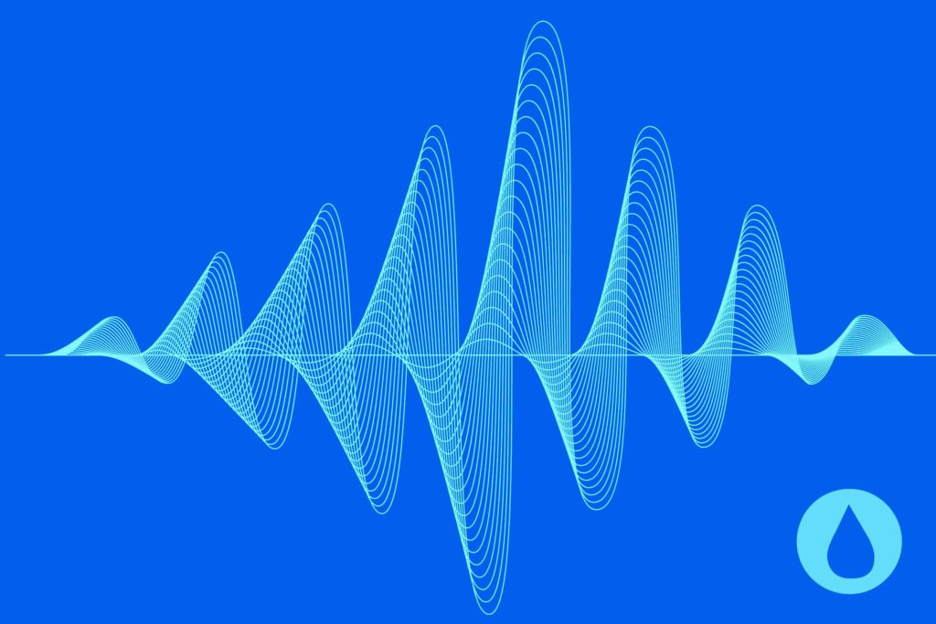 illustration of sound waves