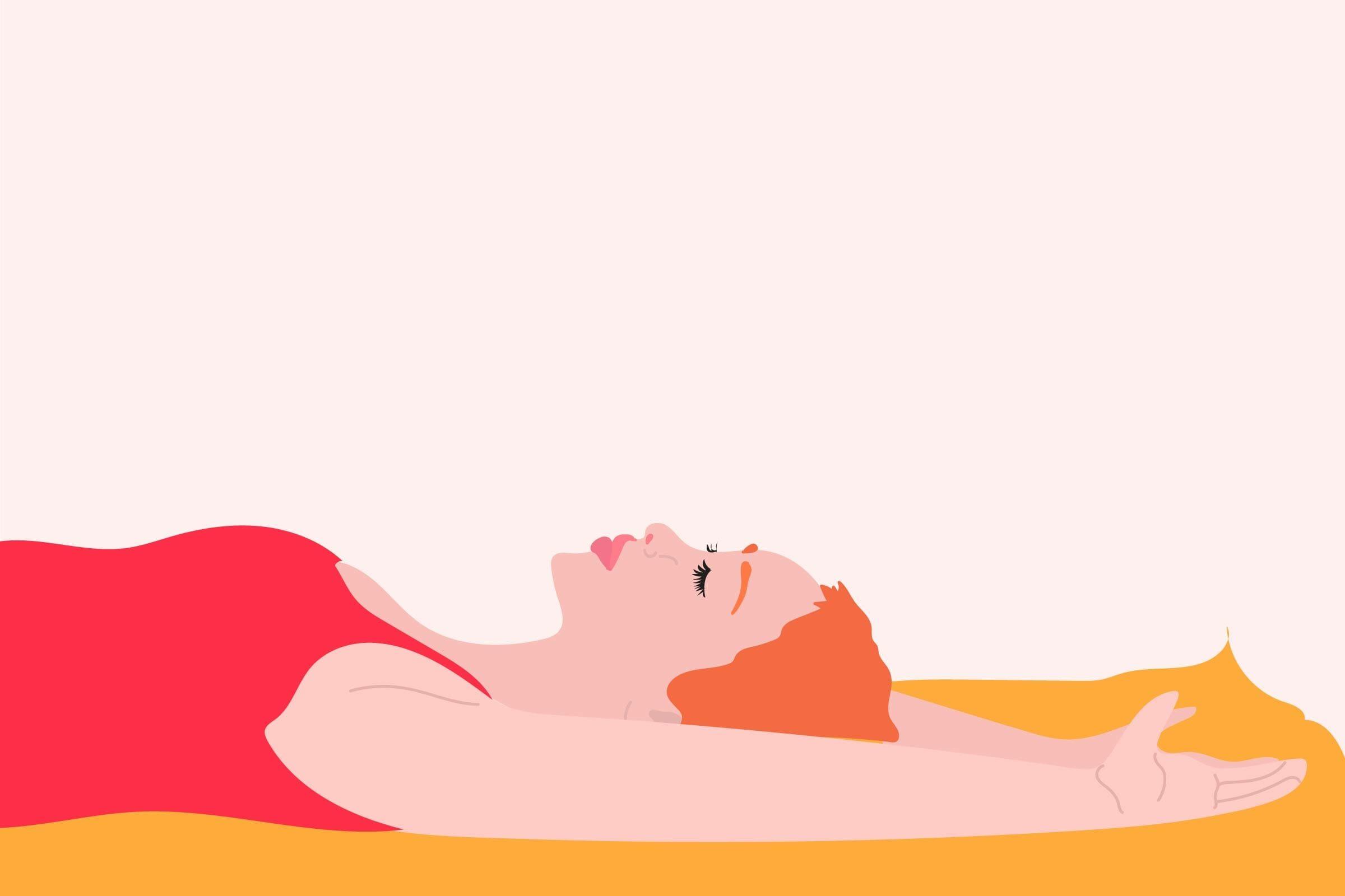 illustration of woman lying down