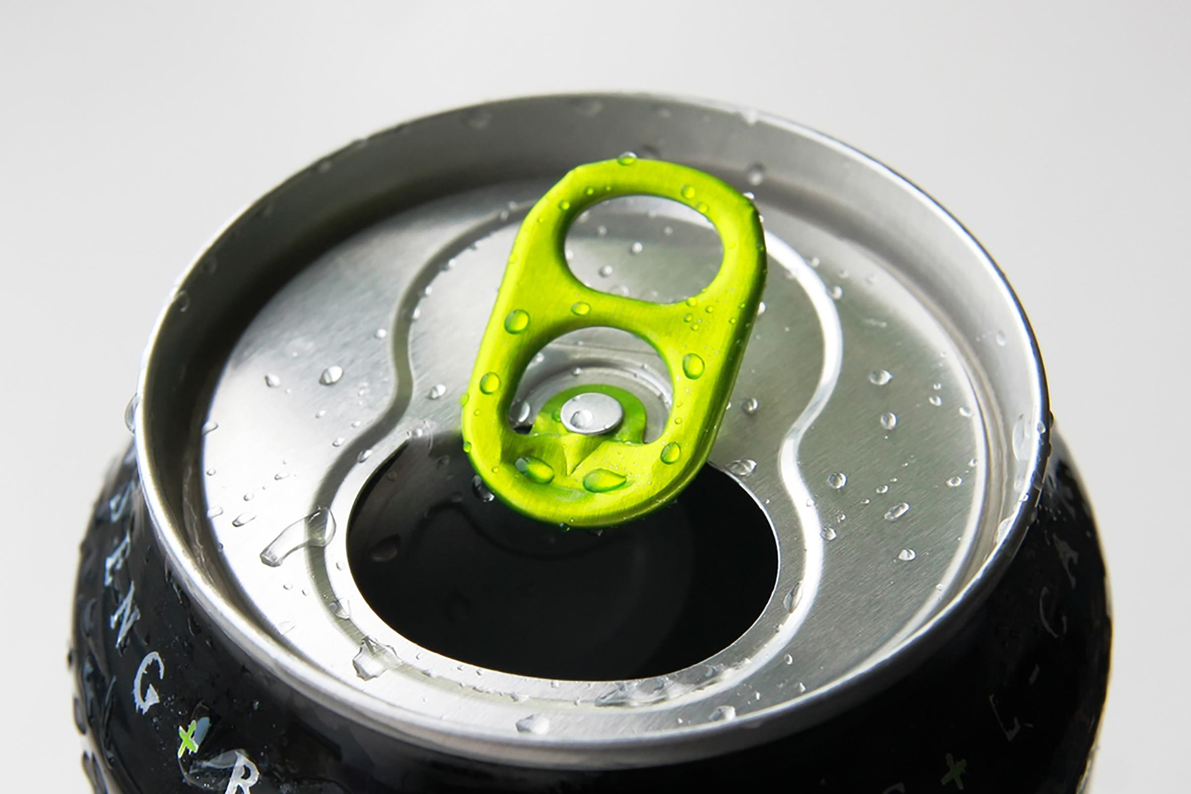 top of an energy drink can