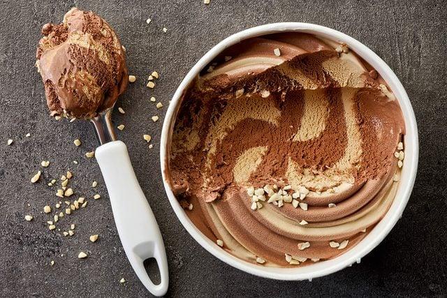 ice cream with scoop