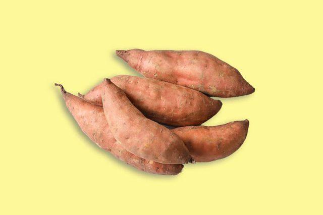 four sweet potatoes
