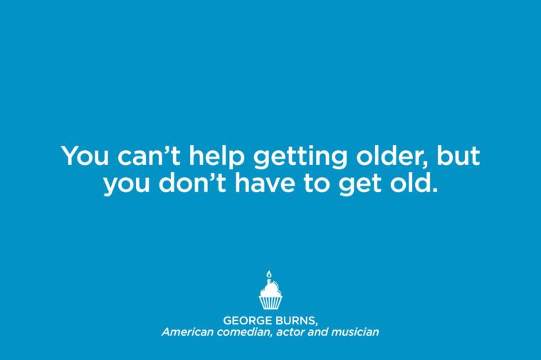 Comedian George Burns.