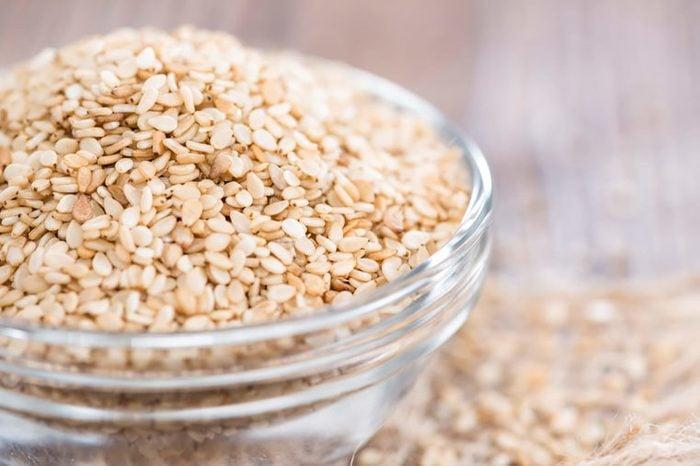 Bowl of sesame seeds