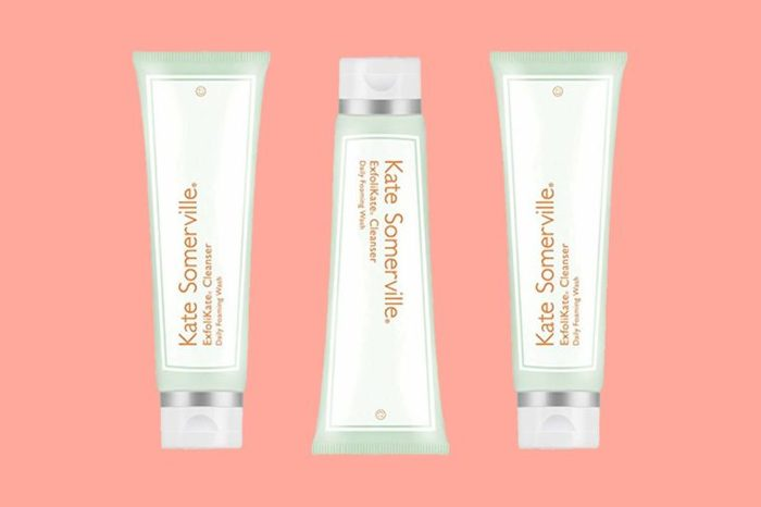 Tubes of Katie Somerville brand skin cleansers