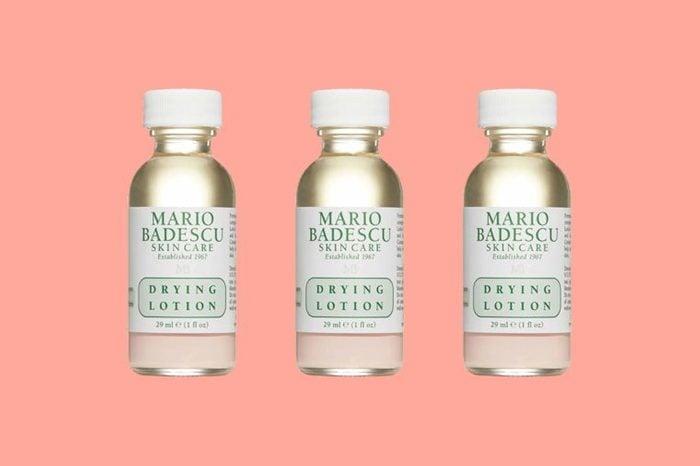bottles of Mario Badescu skincare lotion
