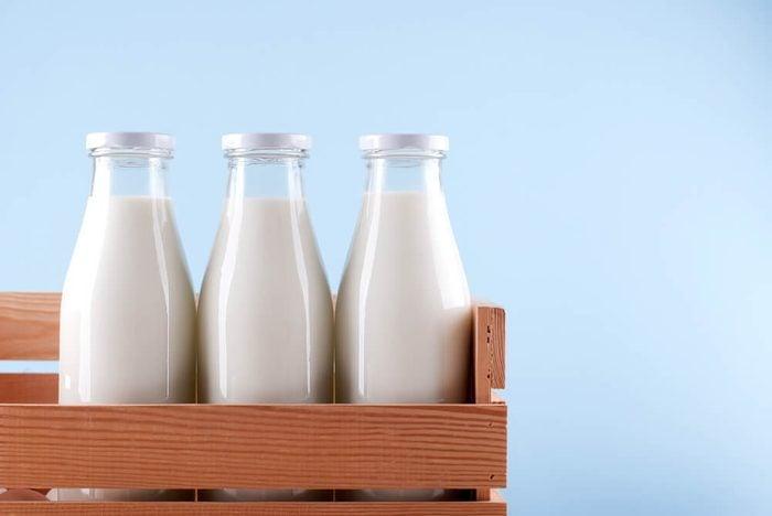 milk bottle in the box