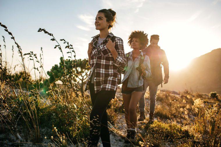 Friends-Hiking
