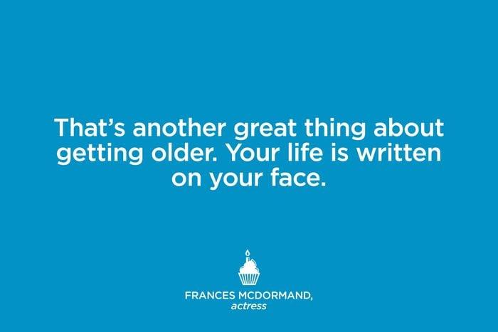 Actress Frances Mcdormand.
