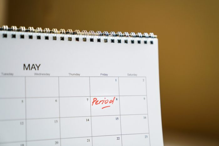 calendar for menstrual cycle