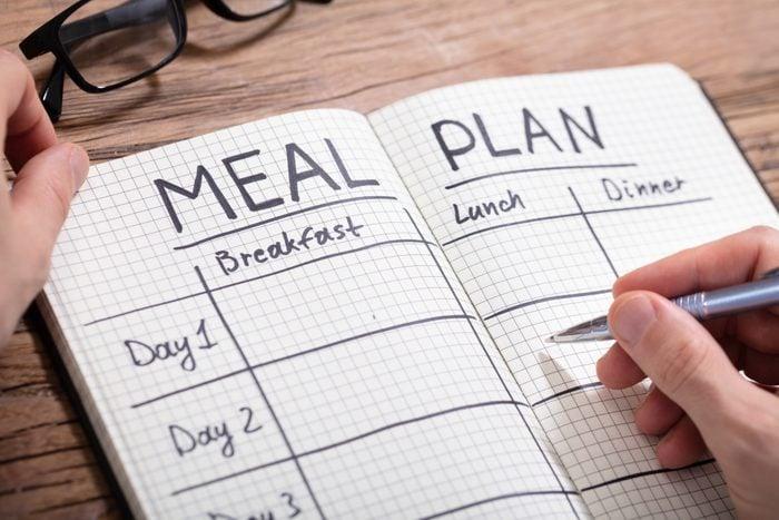 diet meal plan notebook
