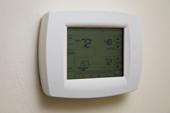 thermostat in house