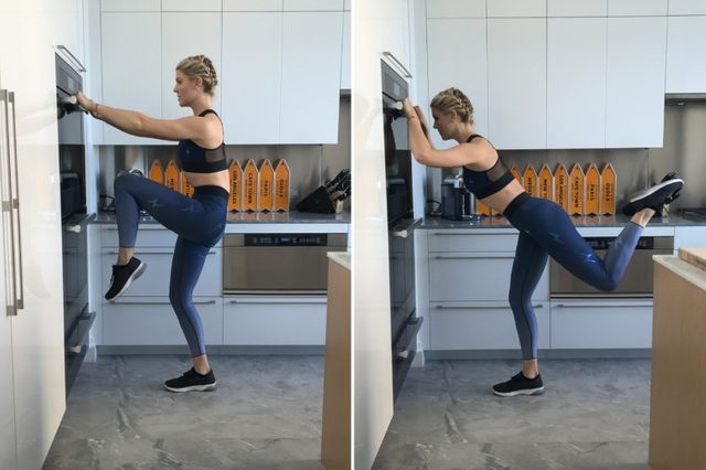 opening the oven door exercise at home