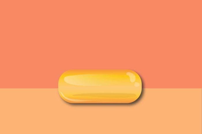 illustration of vitamin E supplement