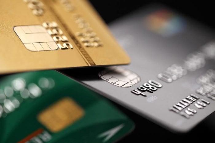 Three credit cards.