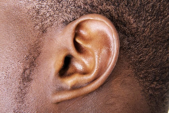 close up of ear