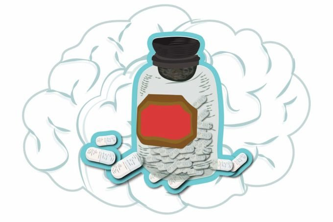 illustration of a pill bottle