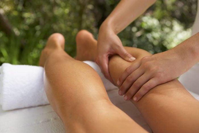 Woman Receiving Massage