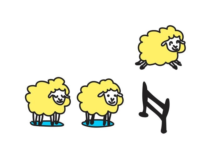 illustration counting sheep