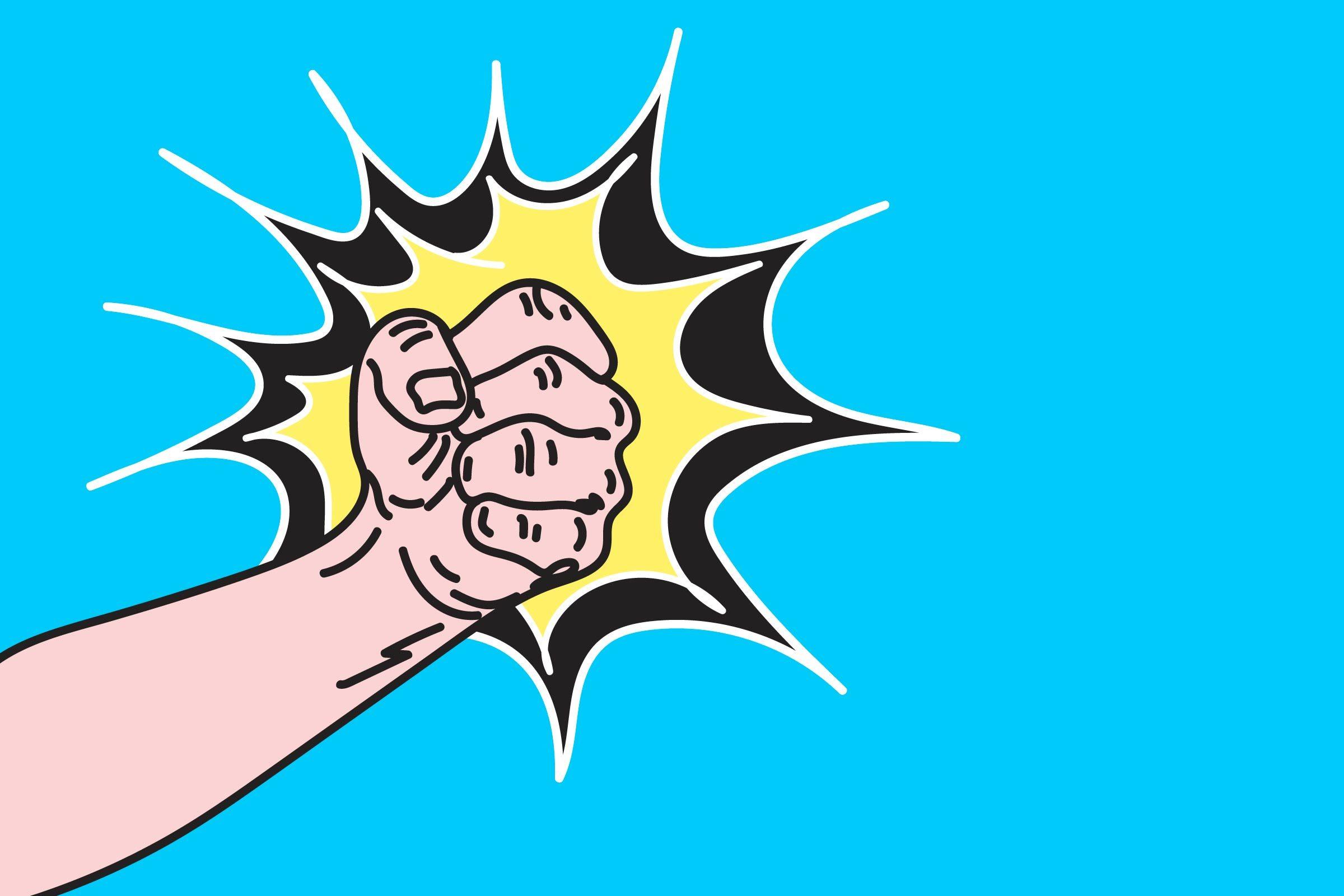 illustration of closed fist