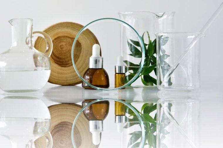 Glass bottles and scientific glassware