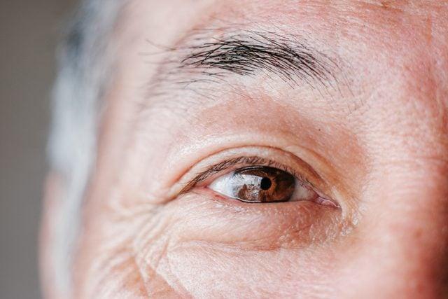 close up of man's eye