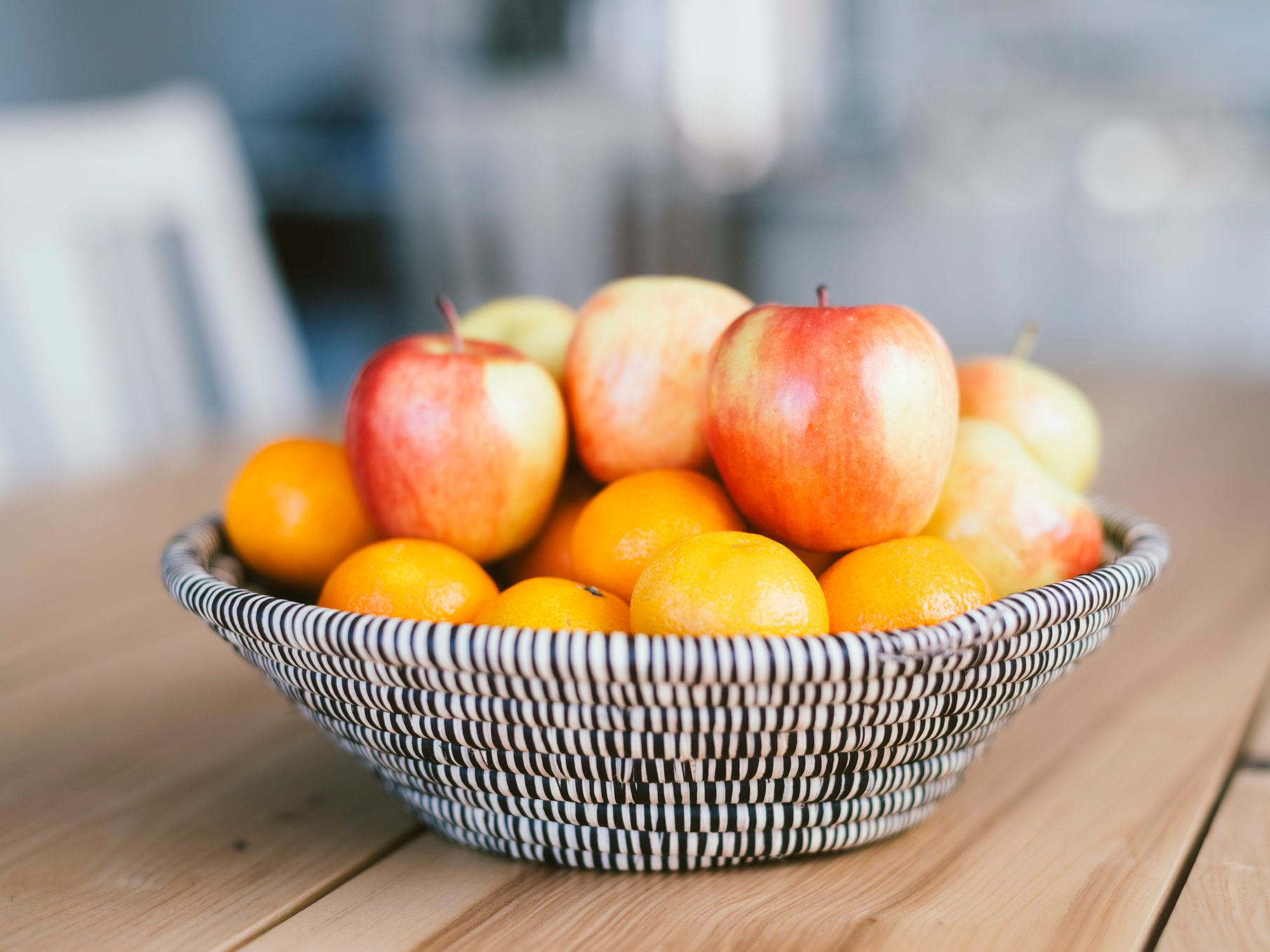 fruit bowl on table