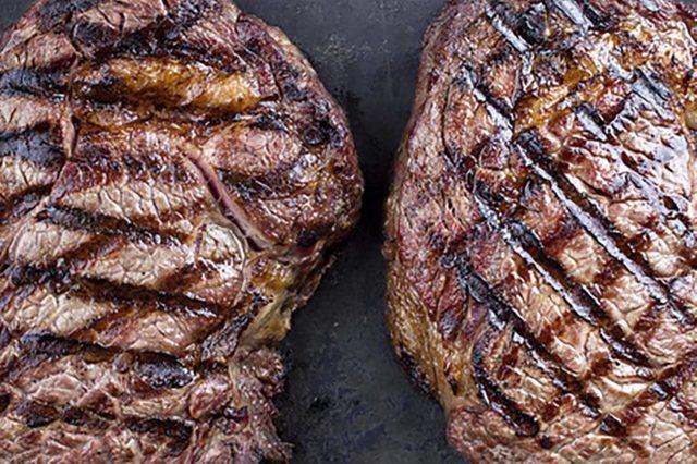 Grilled bison steaks.