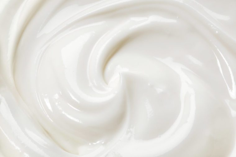 Closeup of yogurt.