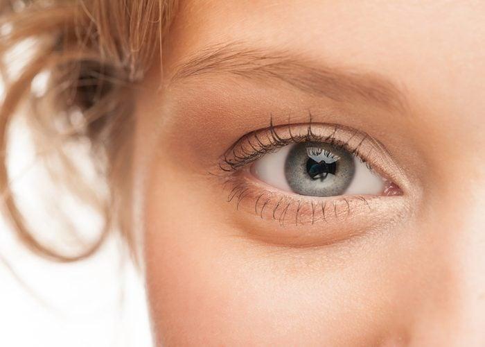 Close-up shot of woman eye
