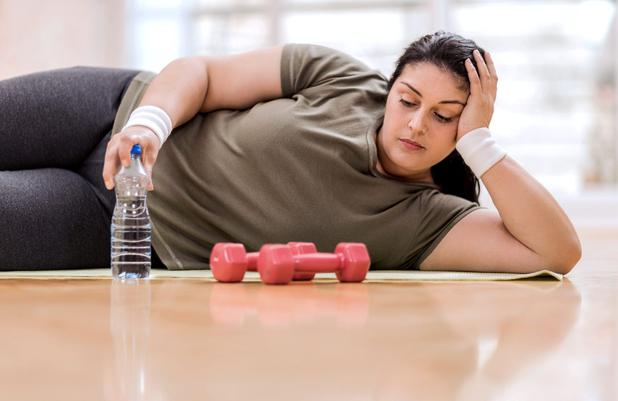woman too depressed to exercise