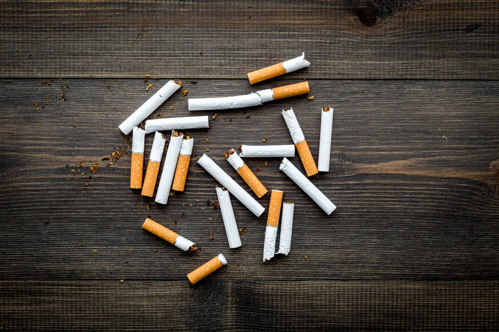 cigarettes scattered on a table