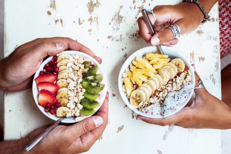 Bowls of fresh fruit.