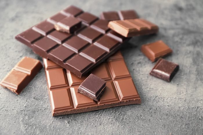 Dark and milk chocolate squares
