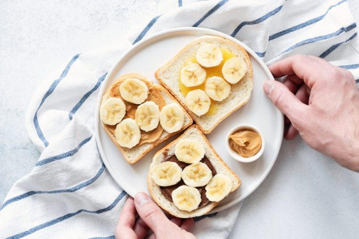 Toast with nut butter and banana