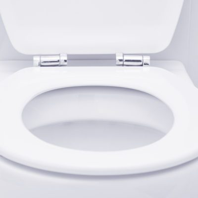 White toilet in the bathroom