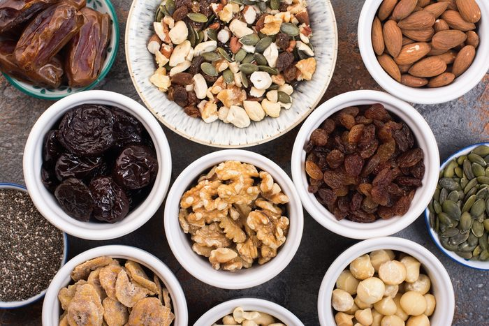 nuts, raisins and other healthy snacks