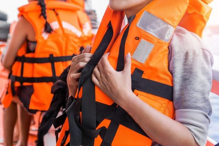 people wearing life jackets