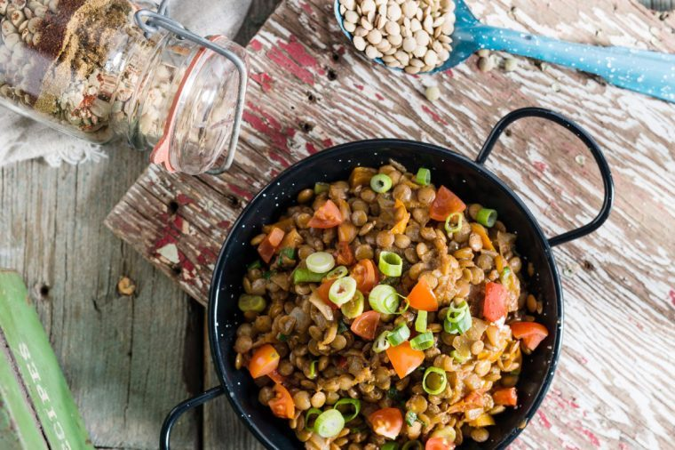 Southern Tex Mex Spiced Lentils.