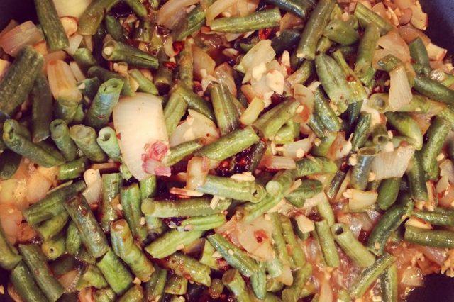 Vegetable Fried Rice with Almond Teriyaki Sauce.