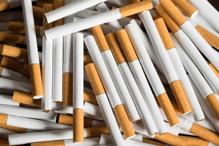 cigarettes strewn on a surface