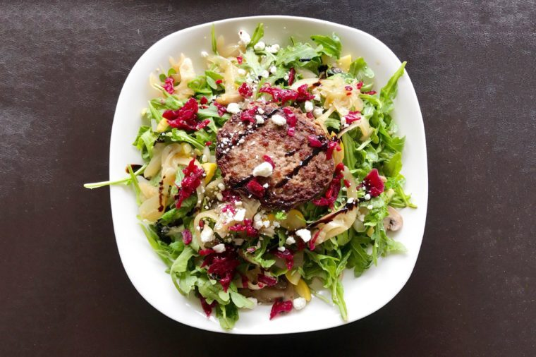 Easiest Burger Salad.