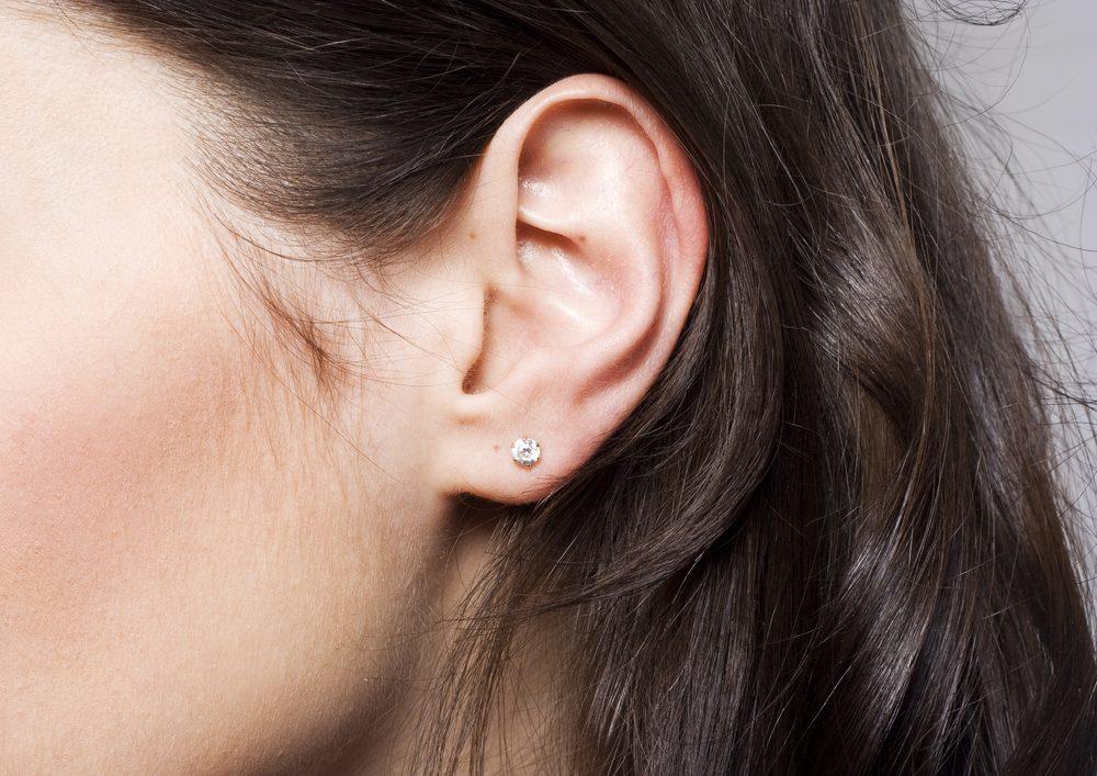 woman ear closeup