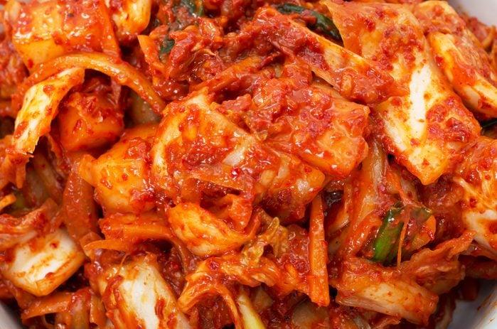 Korean cuisine, fermented food Kimchi closeup studio shot