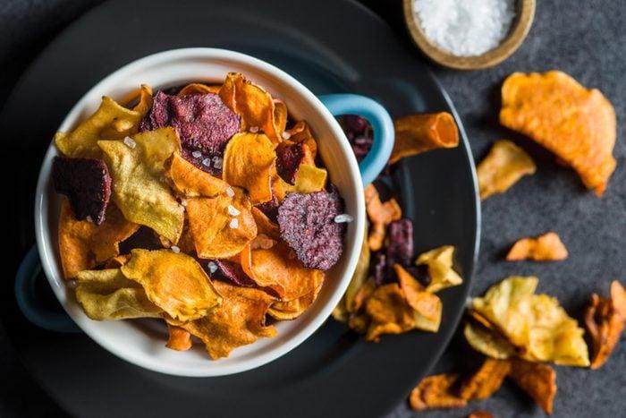 bowl of veggie chips