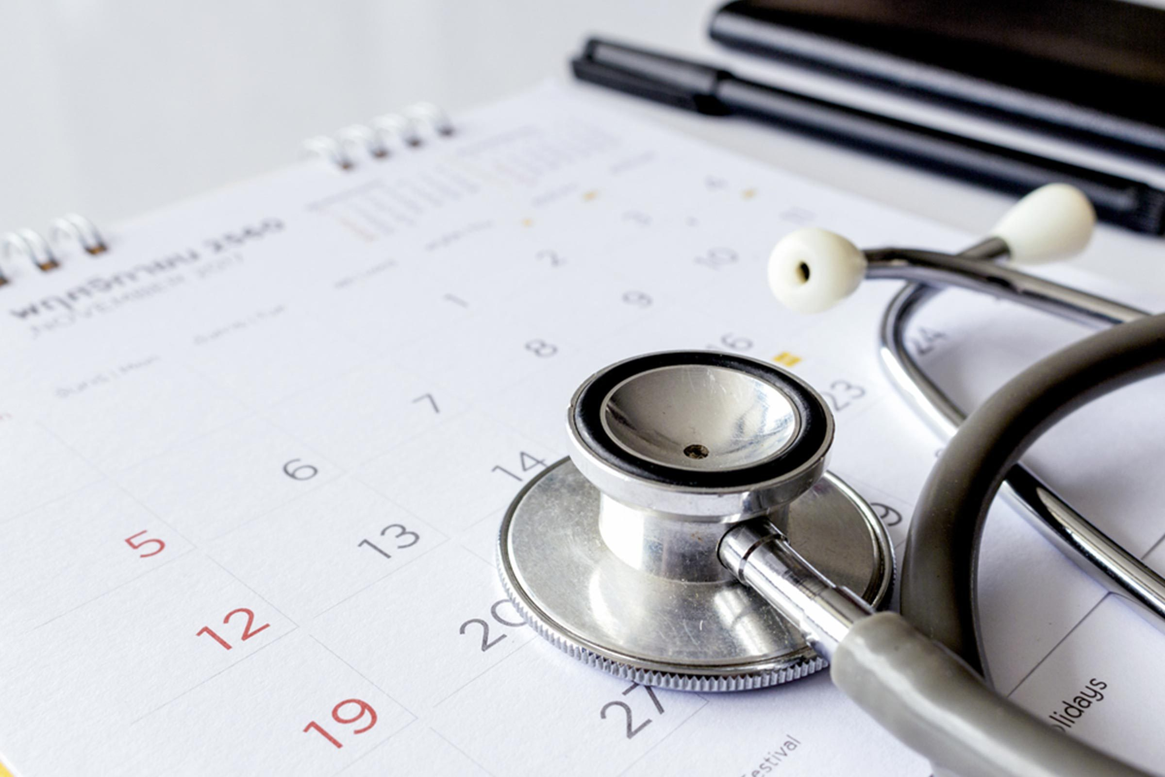 stethoscope calendar brain health