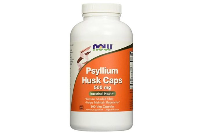 Bottle of Psyllium Husk Cap vitamins