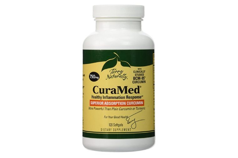 Bottle of CuraMed vitamins